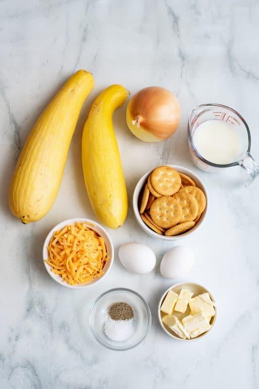 ingredients squash casserole