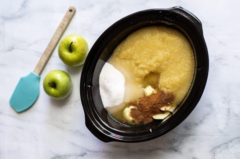 apple butter mixture