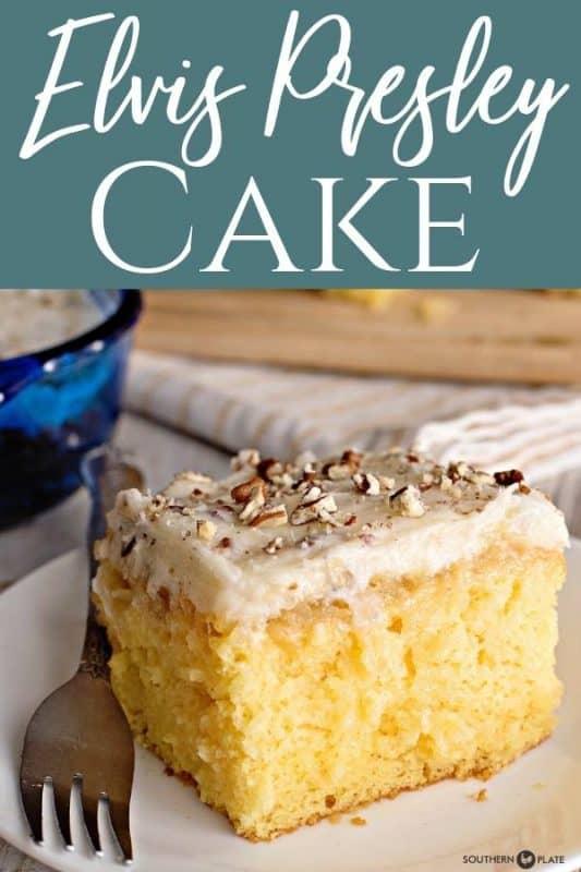 elvis Presley cake with a fork