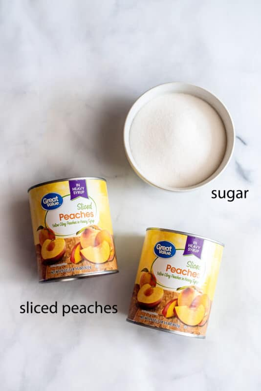 recipe ingredients canned peaches and sugar