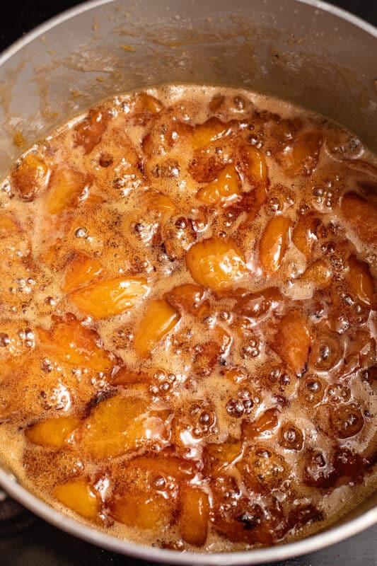 homemade peach preserves after 45 mins
