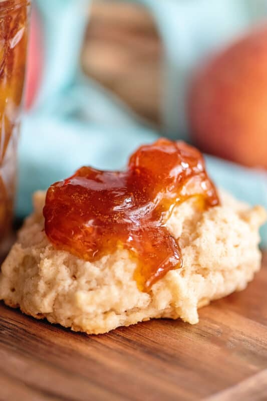 peach preserves and biscuits