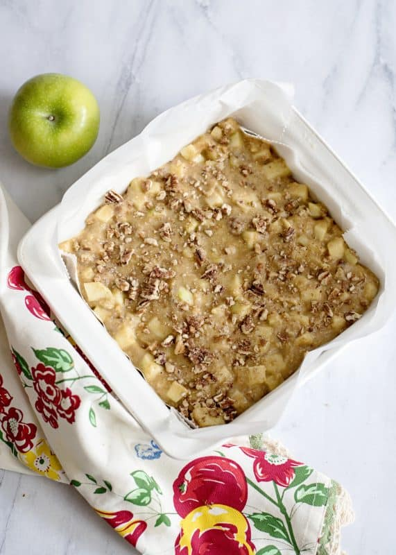 ready to bake Apple Orchard Snack Cake
