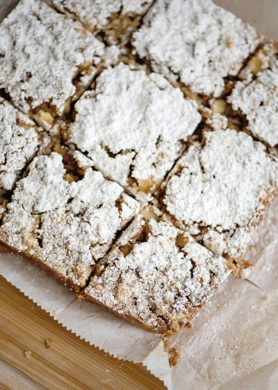 Sugar Dusted Apple Orchard Snack Cake