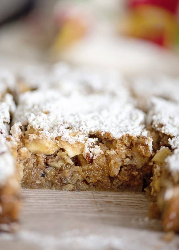 cut slice of Apple Orchard Snack Cake