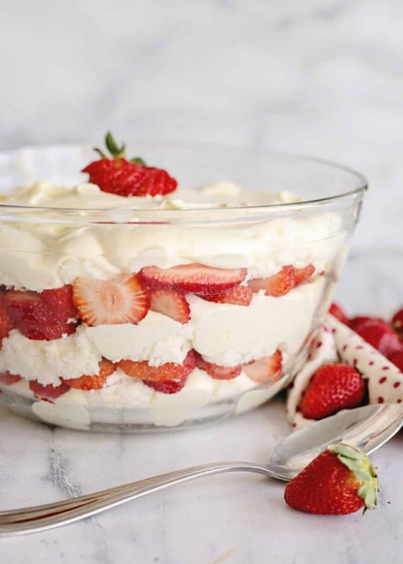 Strawberry Punch Bowl Cake