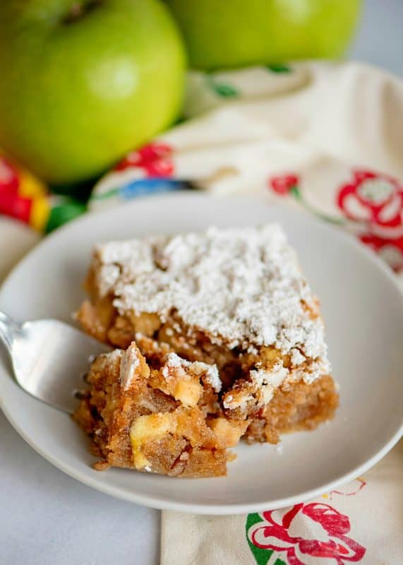 Taking a bit of Apple Orchard Snack Cake