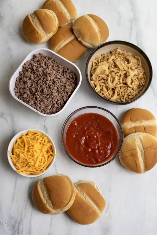 Ingredients for Not Your Average Joe Sloppy Joes