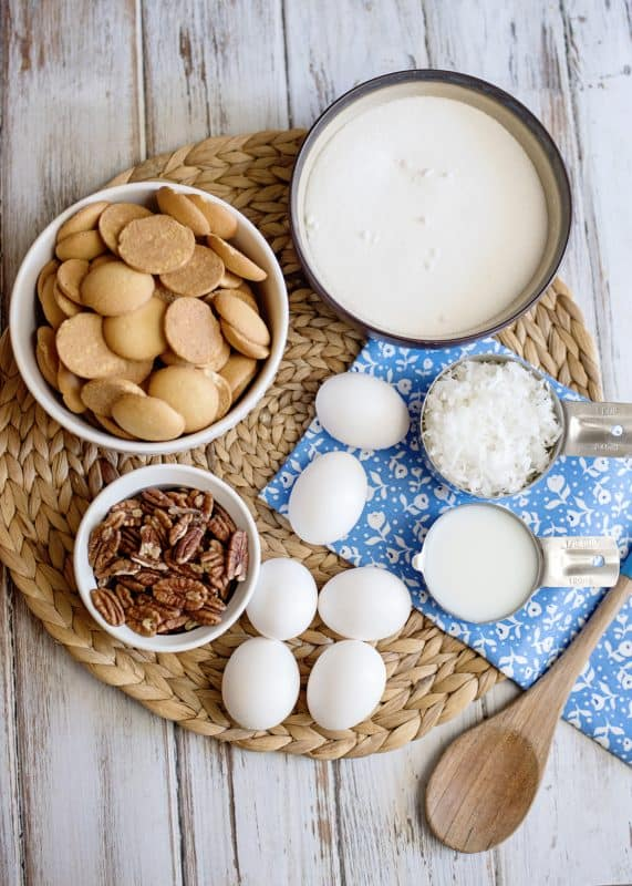Ingredients for Mama Reed's Vanilla Wafer Cake Recipe
