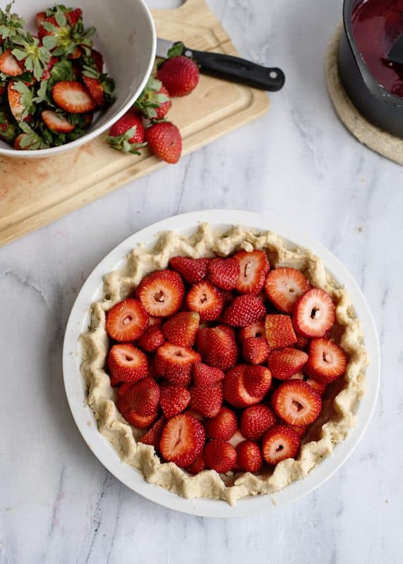 Strawberries in Homemade Pie Crust
