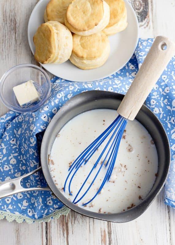 stir chocolate gravy ingredients