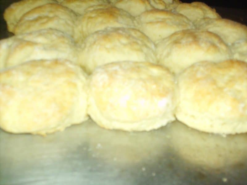 Buttermilk Biscuits in the oven