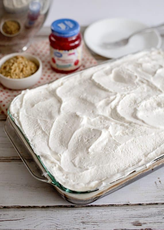 Chocolate Sundae Cake Covered In Whipped Cream