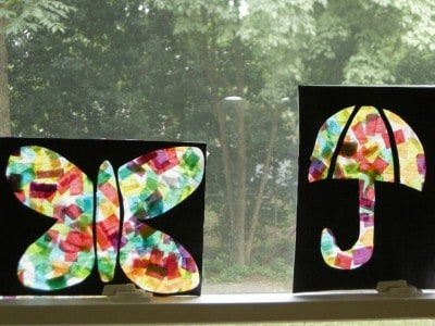 Stained Glass Tissue Art