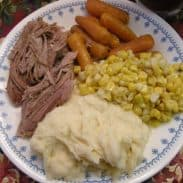 Slow Cooked Pork Roast and EASY Peasy Father's Day Menu