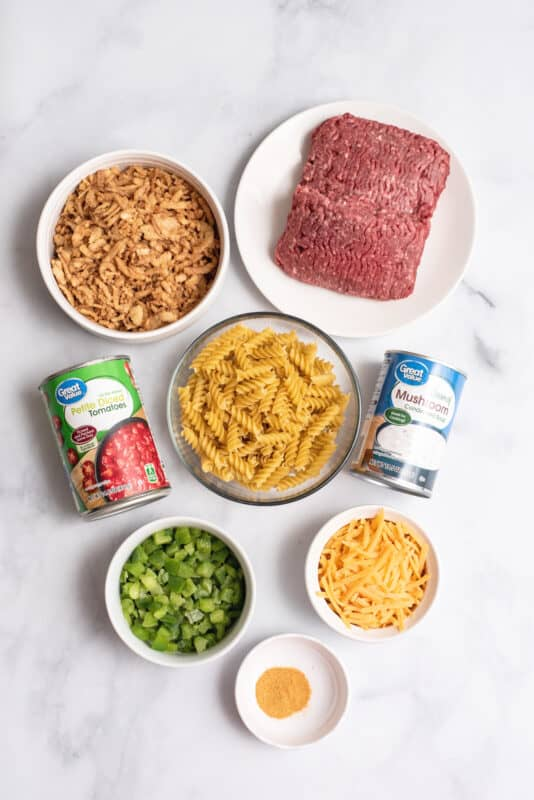 recipe ingredients for crunchy beef casserole