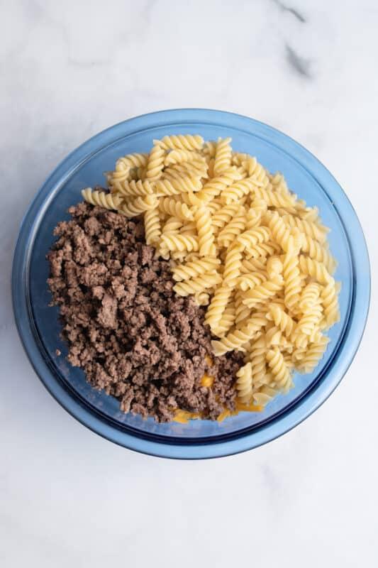 add pasta drained