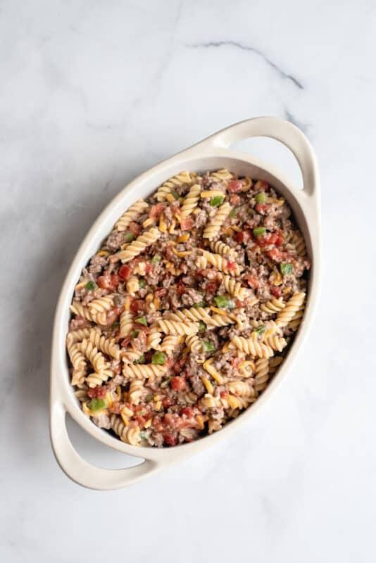 spoon it into casserole dish