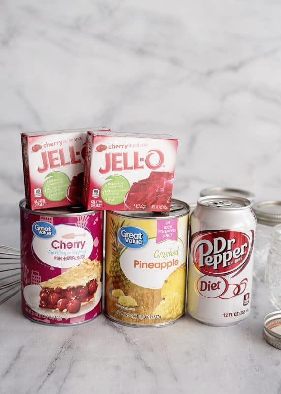 Dr Pepper Congealed Salad Ingredients