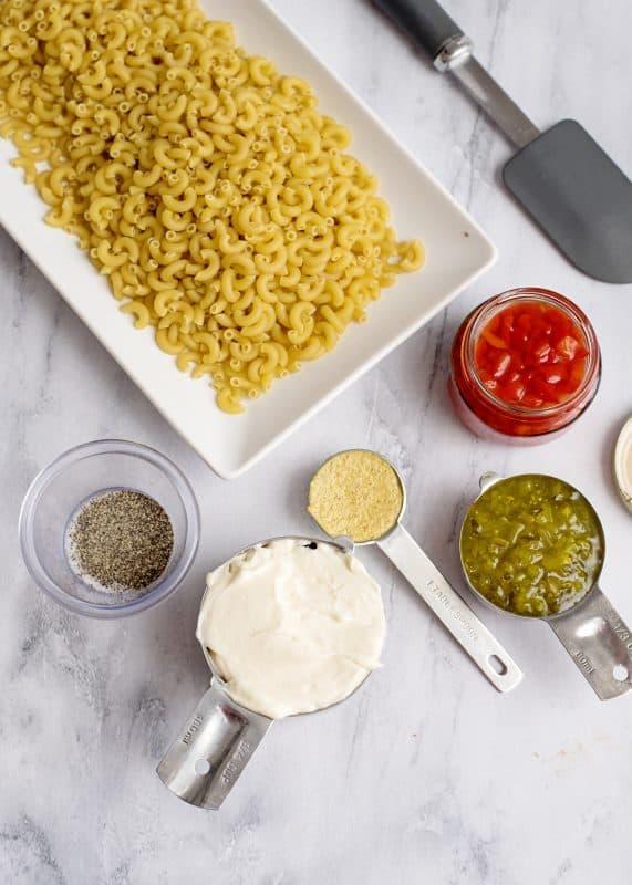 Ingredients for Macaroni Salad