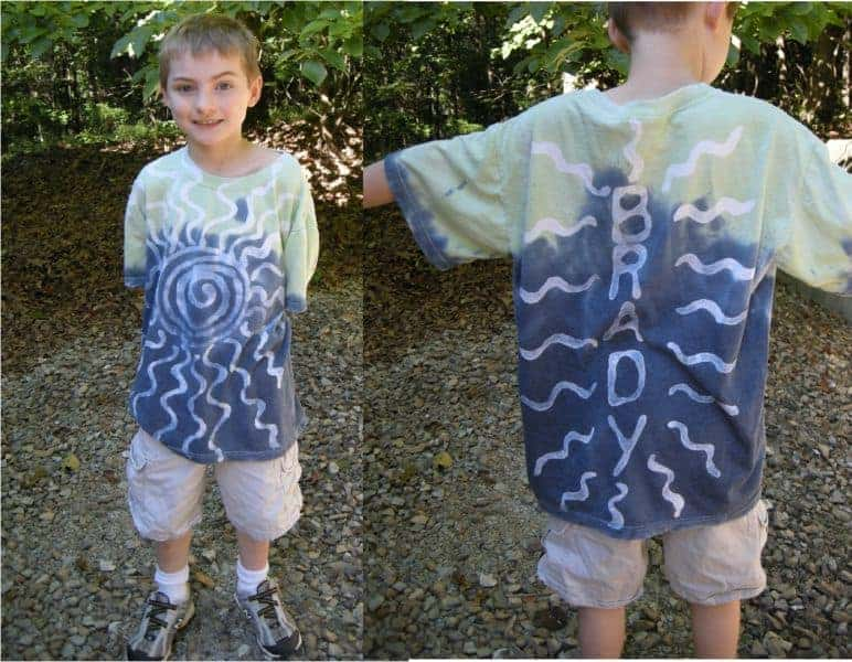 Easy Peasy Batik Dyed Shirts - Summer Craft! - Southern Plate