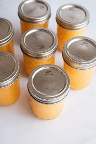 Lidding the jam jars.