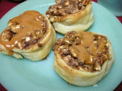 Caramel Apple Puff Pastry Pinwheels | Southern Plate