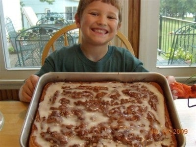 Lane's honey bun cake