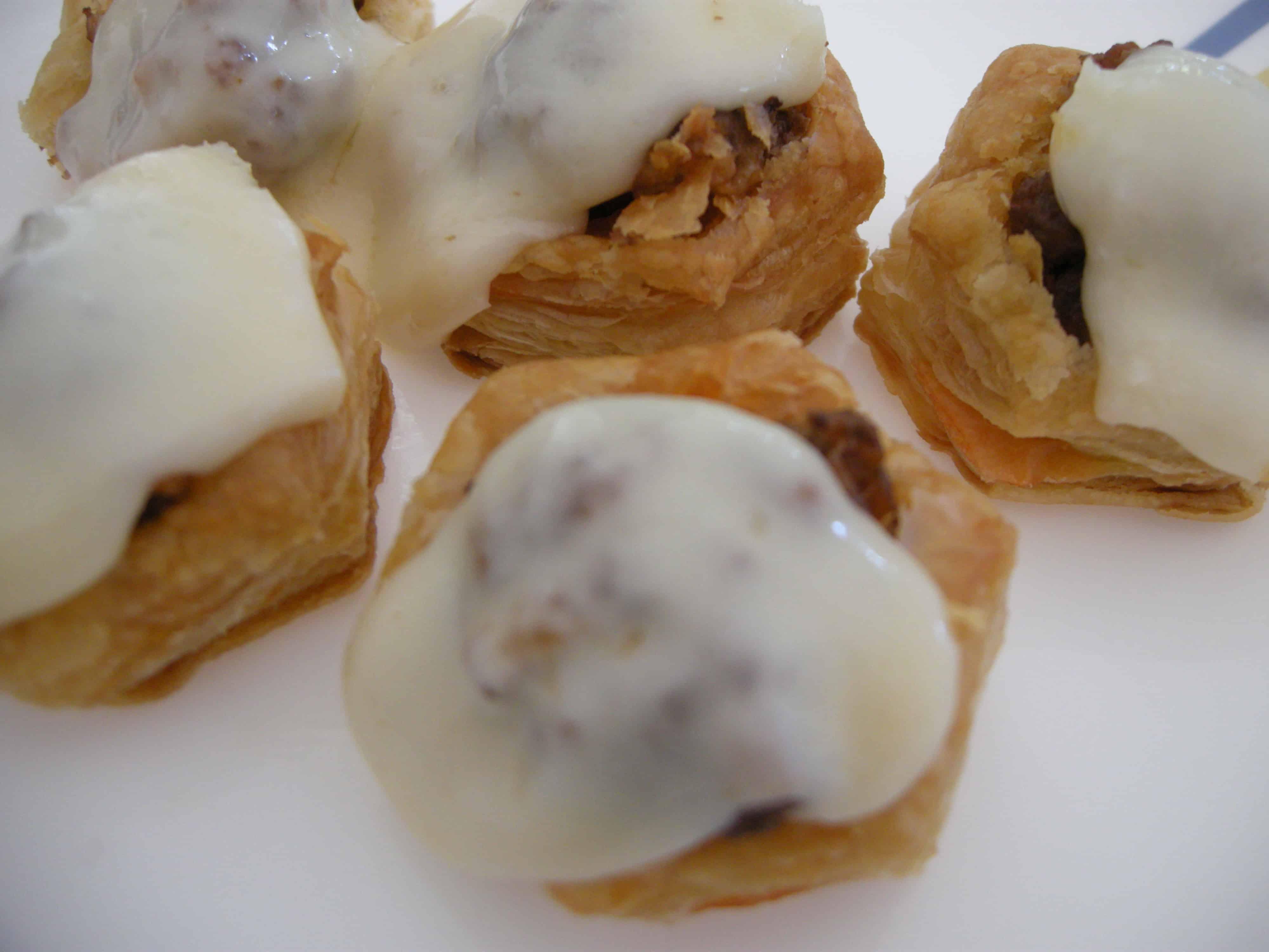 Puff Pastry Meatball Marinara Bites