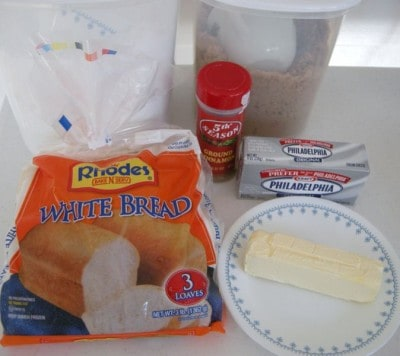 Cinnamon roll ingredients
