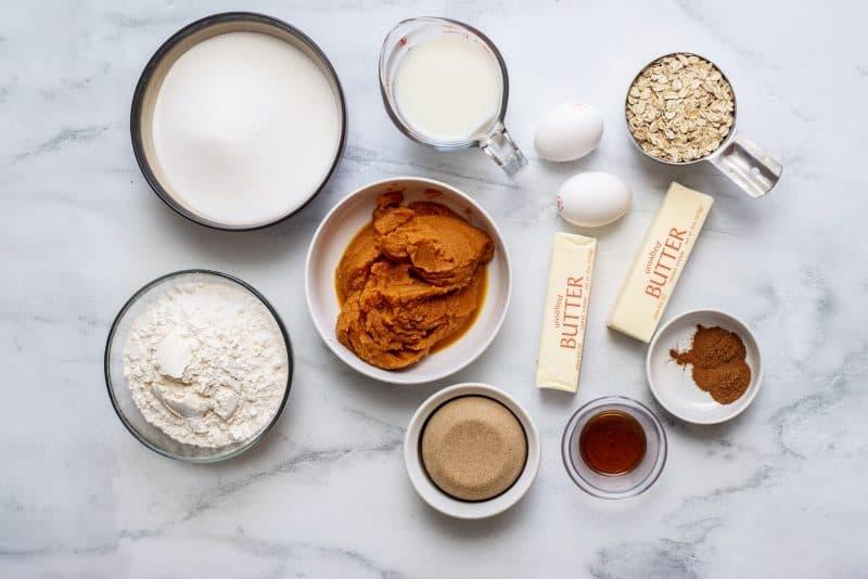 ingredients pumpkin crumb cake