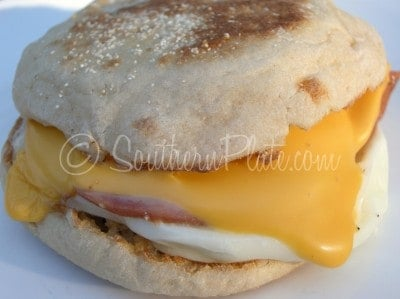 2 Minute English Muffin Breakfast