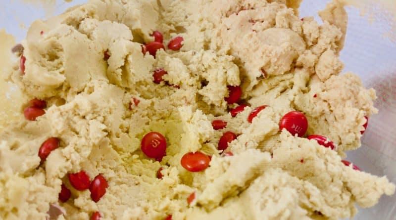 M & M cookie recipe dough