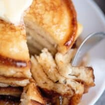 take a bit of the best pancakes
