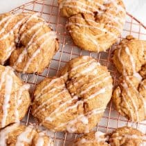 love knots drizzled with icing