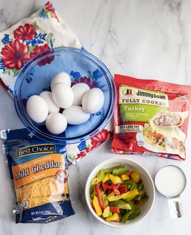Ingredients for Oven Omelet