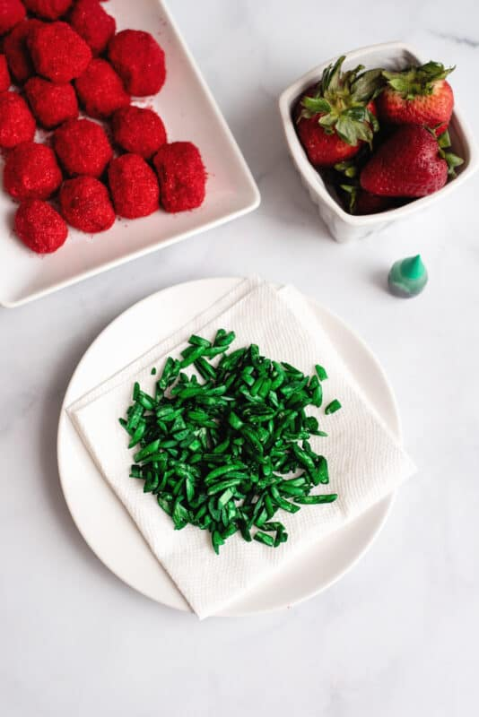 homemade strawberry stalks