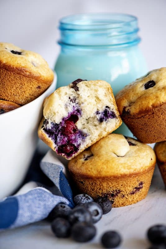 Southern plate blueberry muffins hero