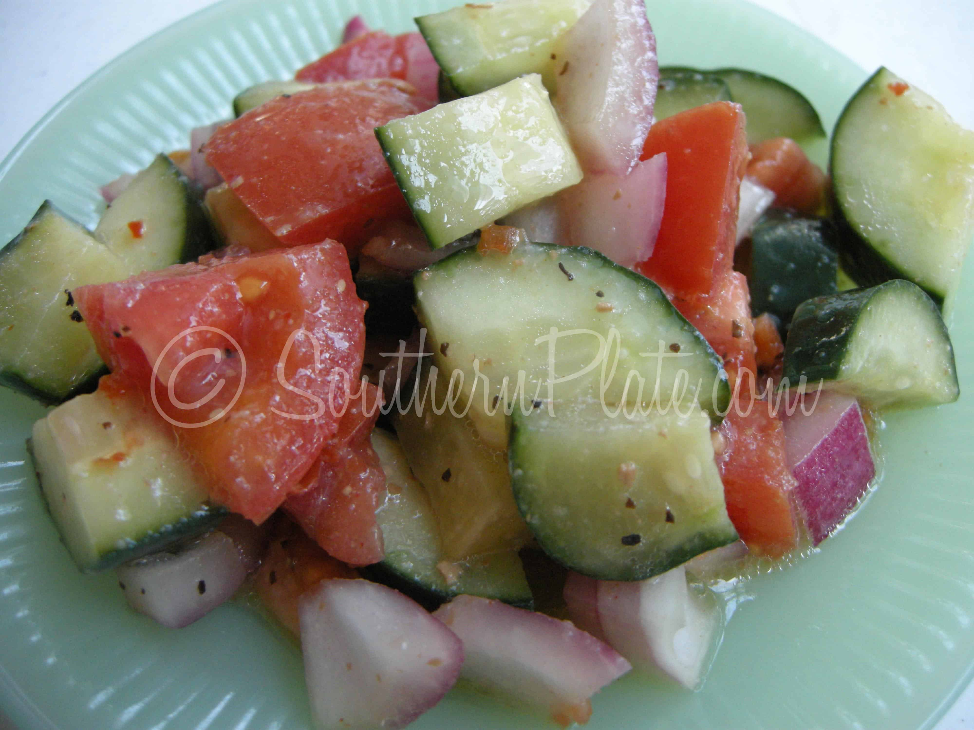 Fast Italian Cucumber Salad