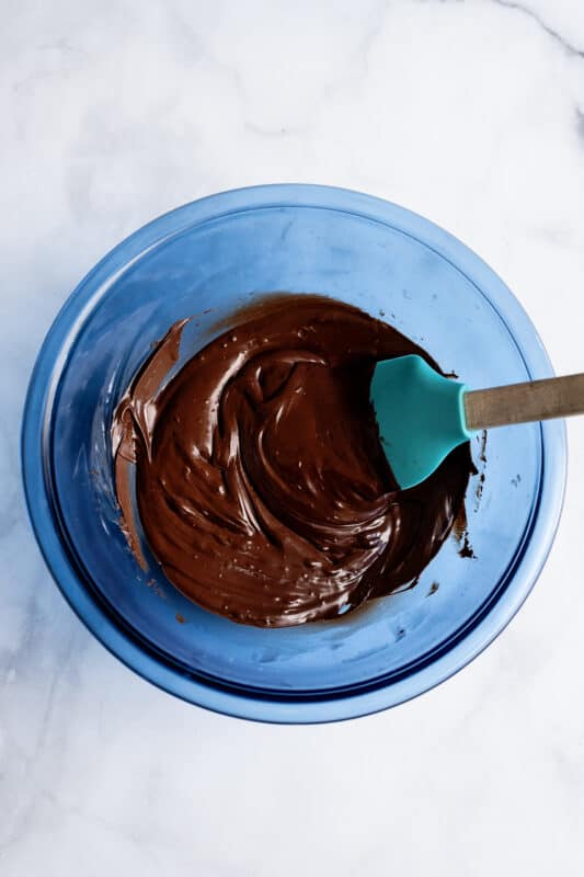 take your melted chocolate chips