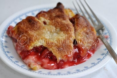 Easy Peasy Cherry Cheese Cobbler