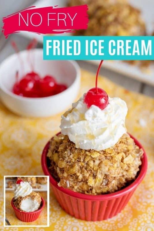 No Fry Fried Ice Cream