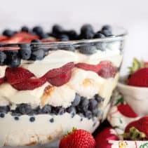 Patriotic Trifle Punch Bowl Cake