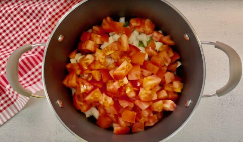 chop up and add your tomatoes