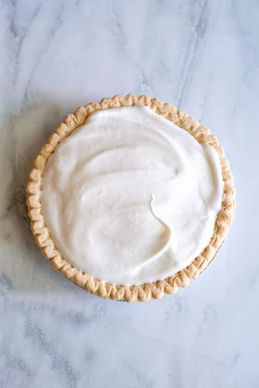 spread the meringue over the entire pie