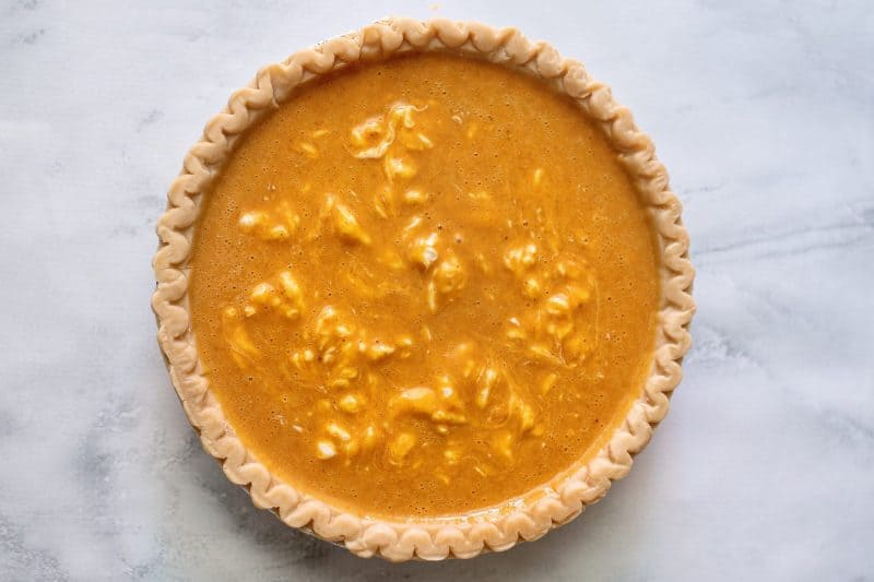 pumpkin pie with cream cheese