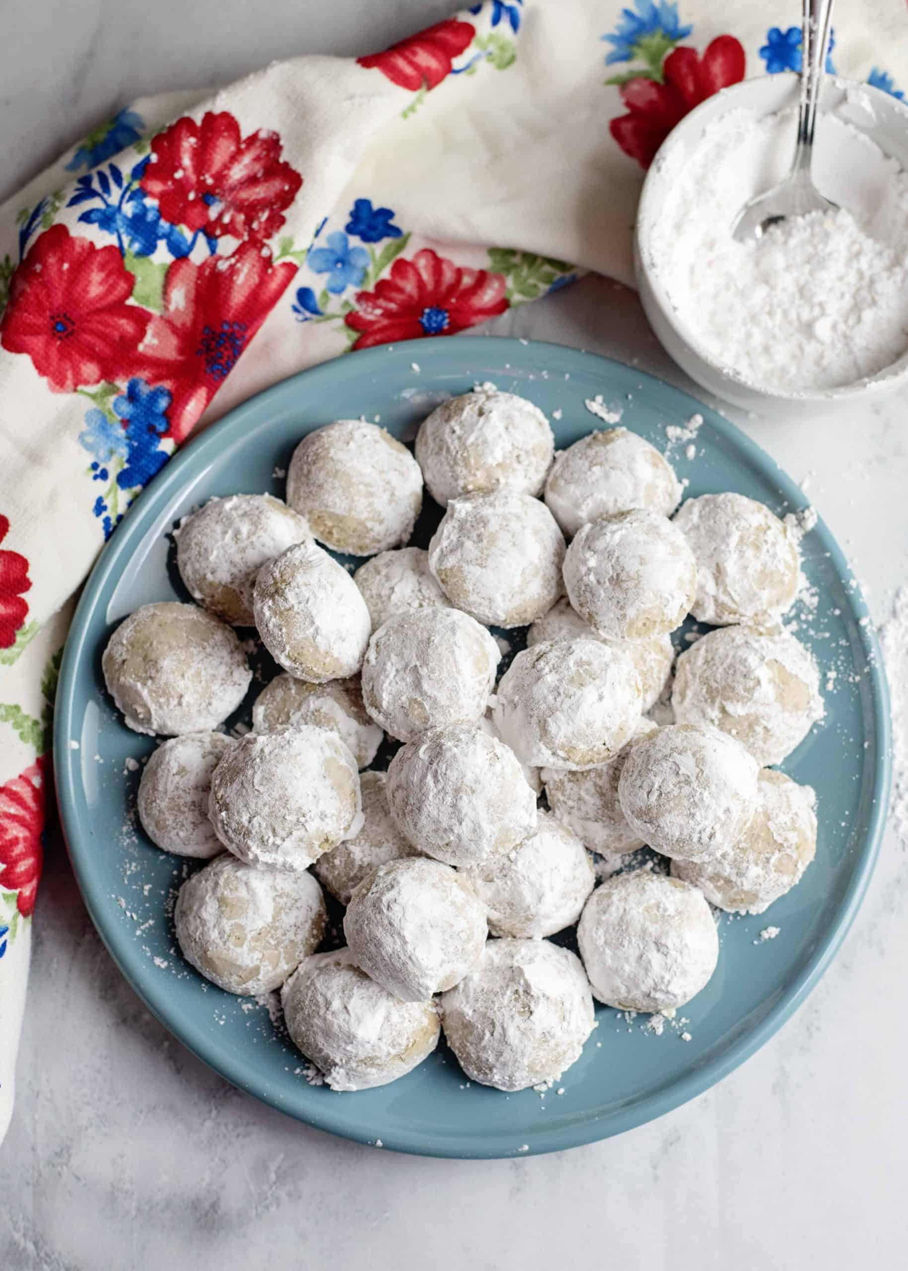 Snowball Cookies on plate