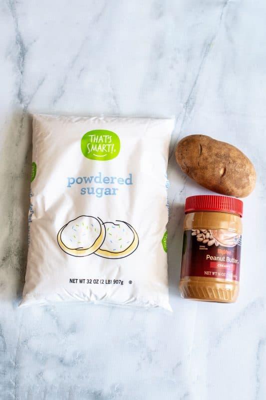 Potato candy ingredients