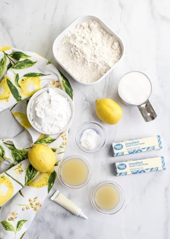 Mixing Lemon Blossom Cookies