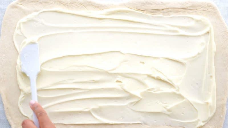 spread the cream cheese evenly